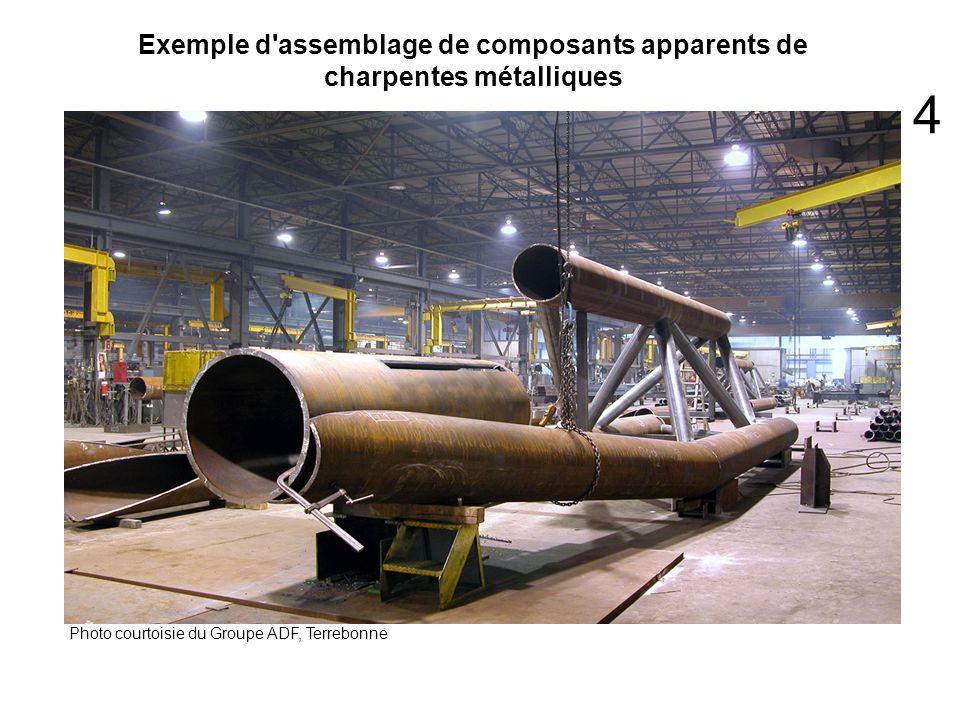Exemple d'assemblage de composants apparents de charpentes métalliques Photo courtoisie du Groupe ADF, Terrebonne 4