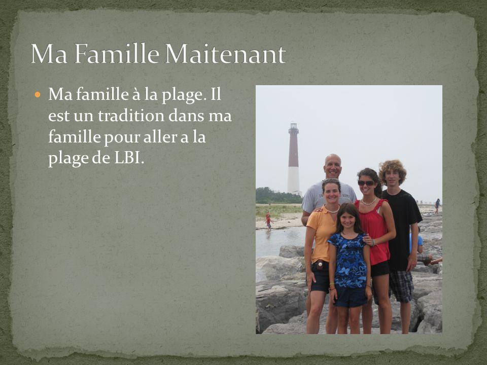 Ma famille à la plage. Il est un tradition dans ma famille pour aller a la plage de LBI.