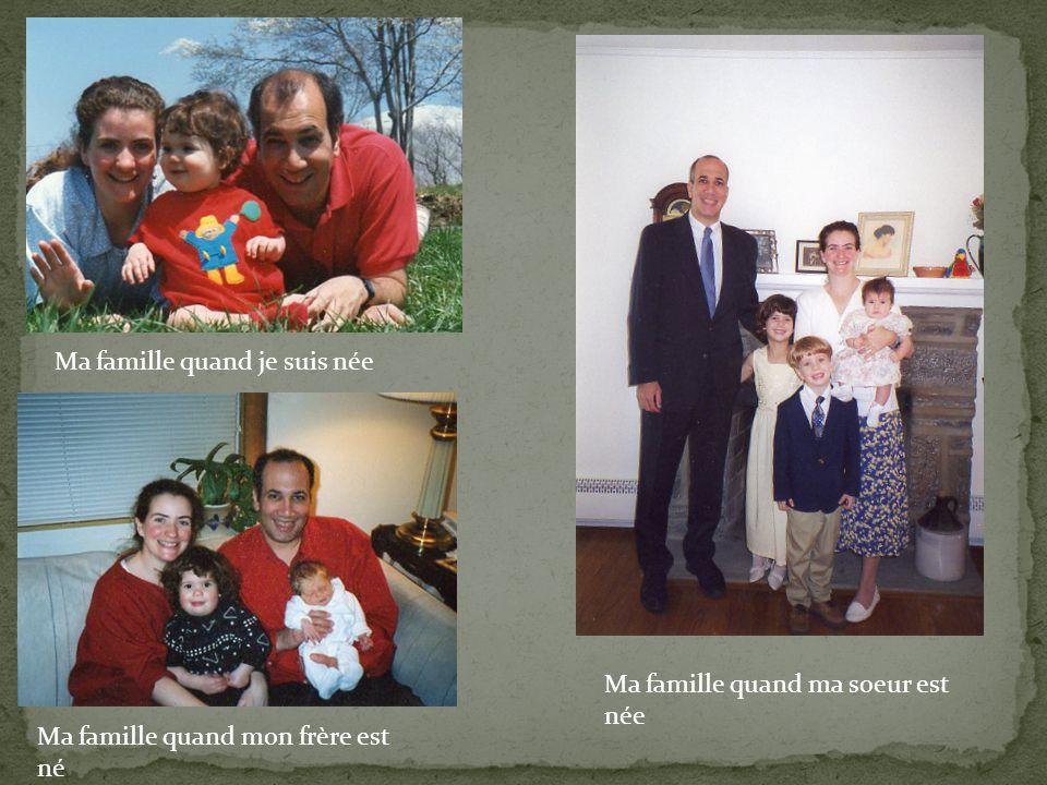 Ma famille quand je suis née Ma famille quand mon frère est né Ma famille quand ma soeur est née