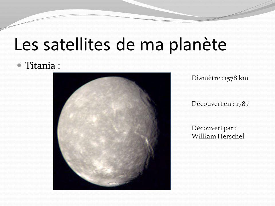 Obéron Diamètre : 1523 km Découvert en : 1787 Découvert par : William Herschel