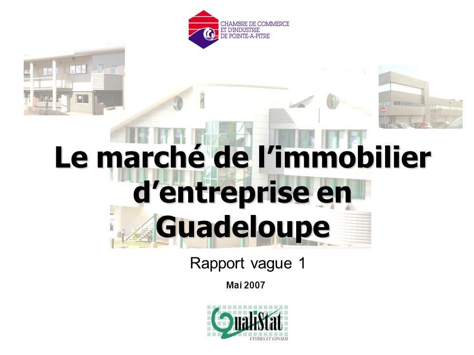 QualiStat - Mai 2007 : Etude du marché de l'immobilier d'entreprise Page 1 Le marché de l'immobilier d'entreprise en Guadeloupe Mai 2007 Rapport vague