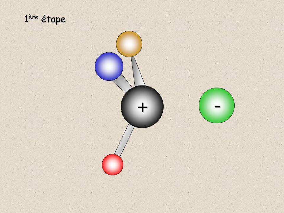 La forte polarisation de la liaison permet le départ du groupe X -. C  X  1 ère étape