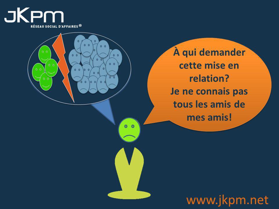 ® www.jkpm.net À qui demander cette mise en relation.