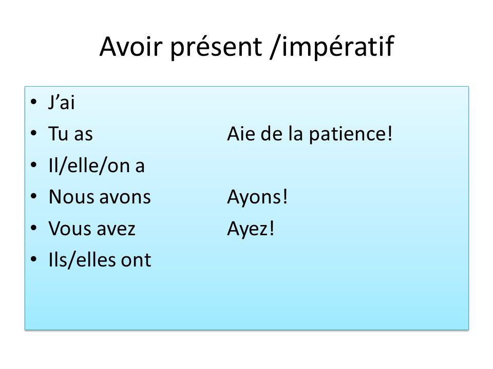 Devoir 1.shows obligation =must/have to Je dois partir.