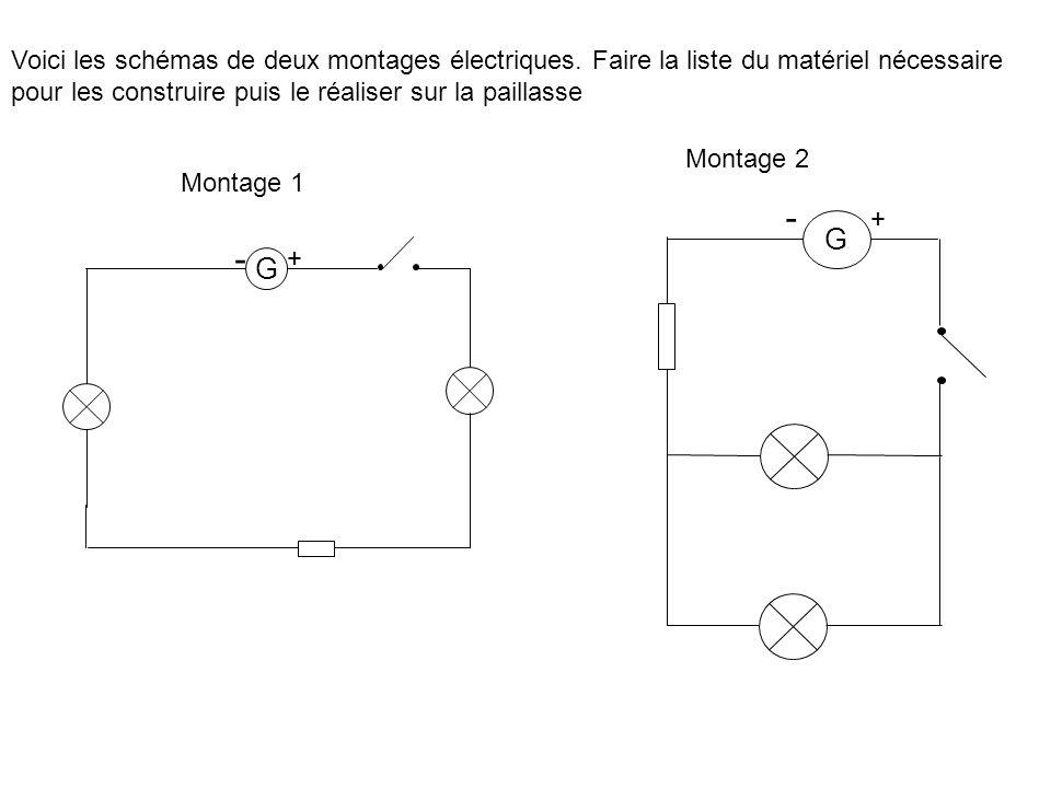 Voici les schémas de deux montages électriques.