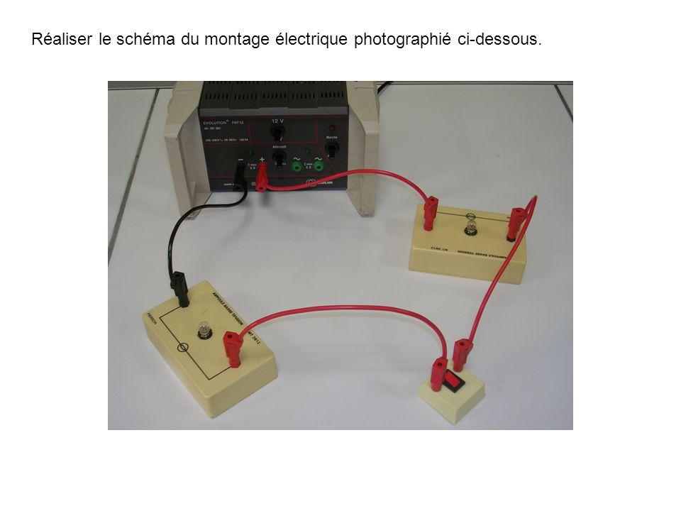 Réaliser le schéma du montage électrique photographié ci-dessous.