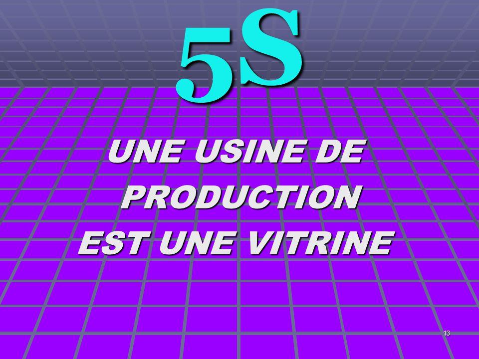 13 5S UNE USINE DE PRODUCTION PRODUCTION EST UNE VITRINE