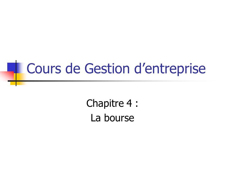 VII/ LES CRITERES DE SELECTION DES ACTIONS 7.1 Ratios financiers  Voir cours analyse du bilan & cours analyse du compte de résultat)