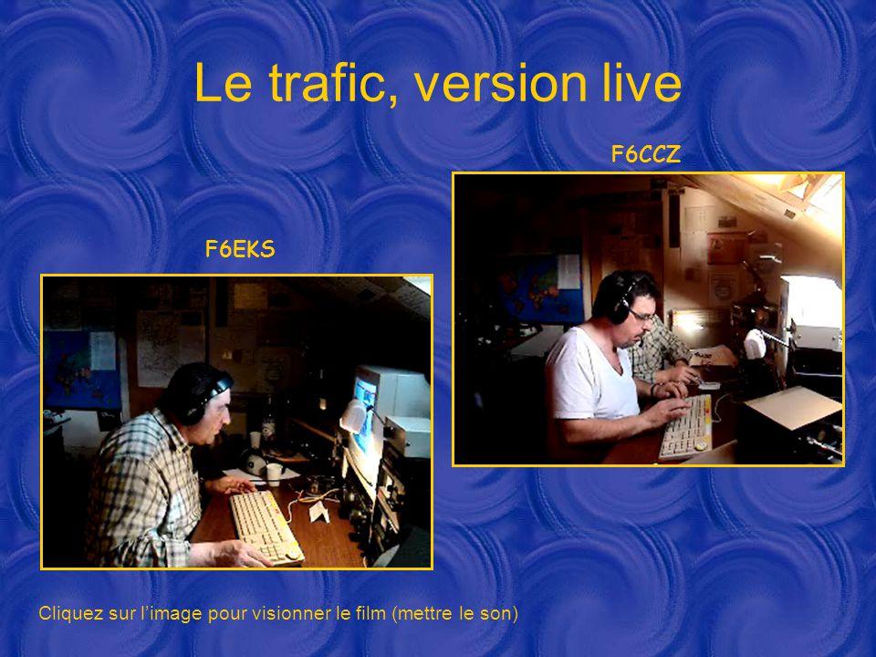 Le trafic, version live Cliquez sur l'image pour visionner le film (mettre le son) F6EKS F6CCZ