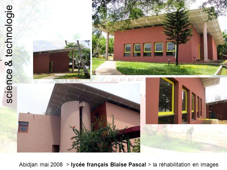 Abidjan mai 2008 > lycée français Blaise Pascal > la réhabilitation en images salle socioculturelle
