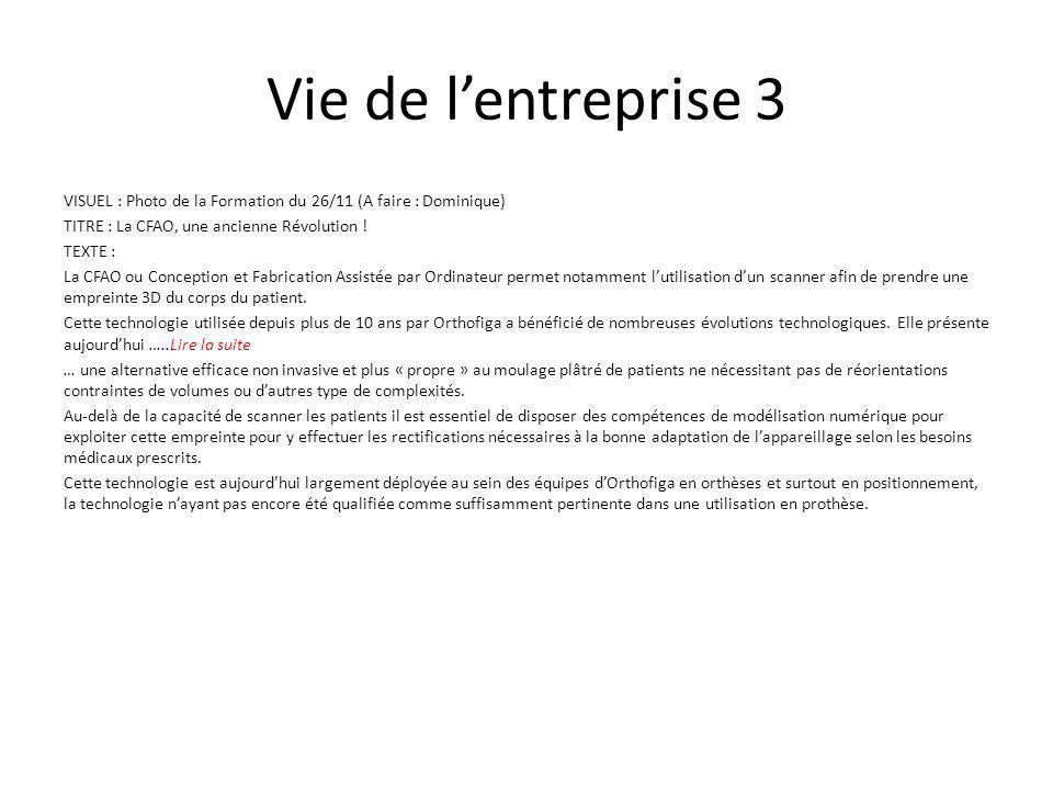 Vie de l'entreprise 3 VISUEL : Photo de la Formation du 26/11 (A faire : Dominique) TITRE : La CFAO, une ancienne Révolution .