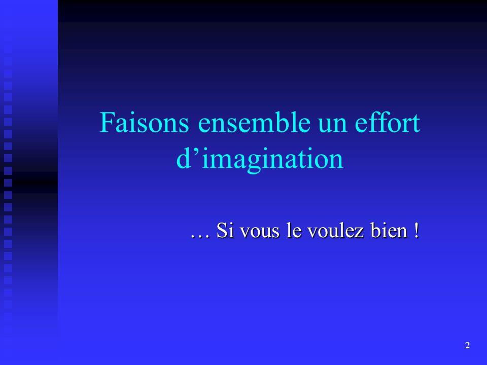 2 Faisons ensemble un effort d'imagination … Si vous le voulez bien !