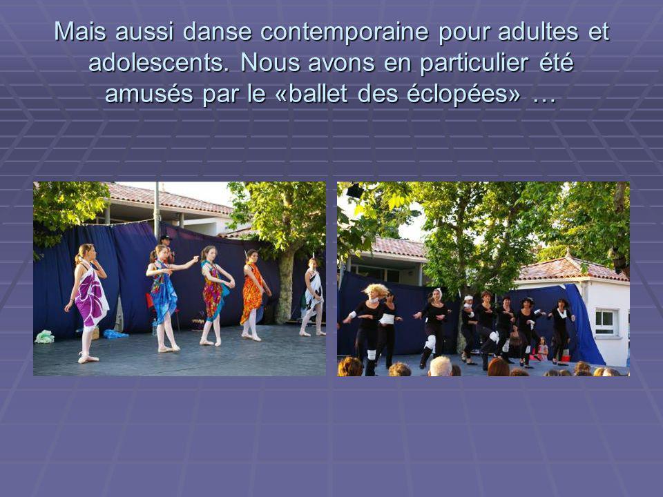 Les A.I.L. ont cependant une activité dominante, la danse. Ici danses sévillanes et flamenca : de jeunes adolescentes et des adultes nous ont entraîné