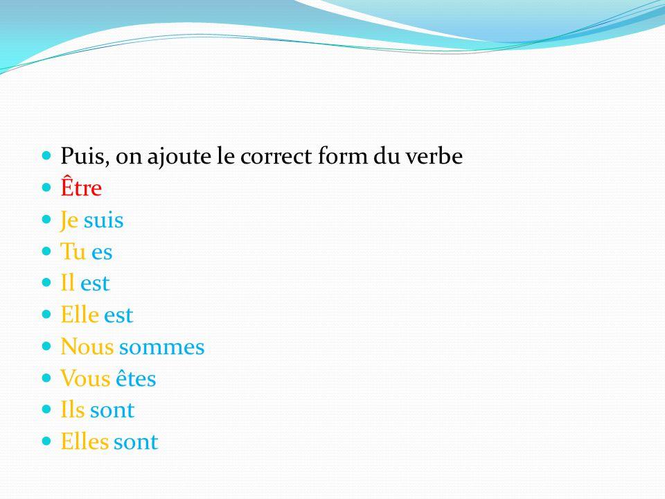 Ensuite, on écrit le participe passé du verbe aller sans les terminaisons.