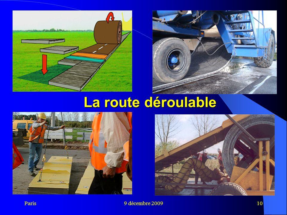 Paris9 décembre 200910 La route déroulable