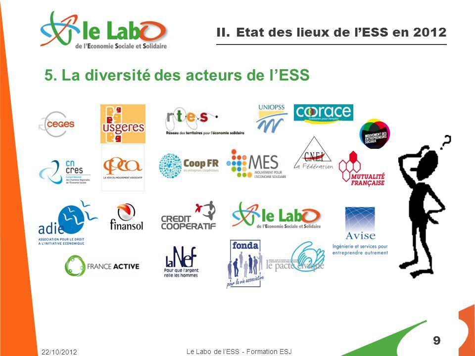 5. La diversité des acteurs de l'ESS 9 II.