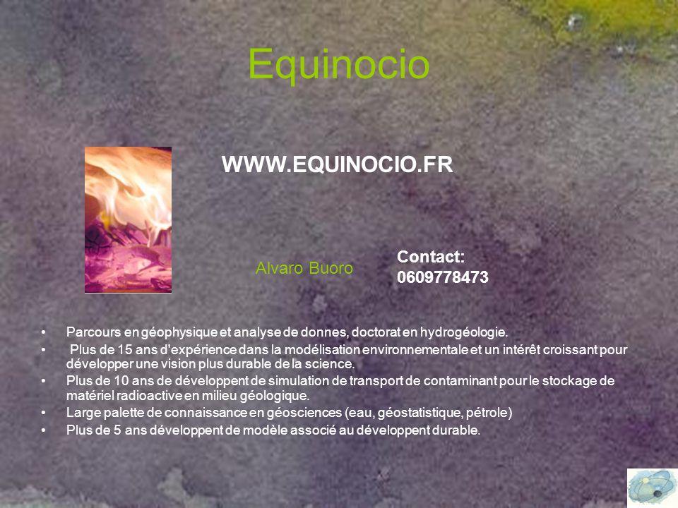 Equinocio Parcours en géophysique et analyse de donnes, doctorat en hydrogéologie.