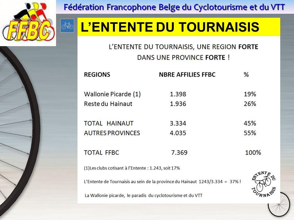 Fédération Francophone Belge du Cyclotourisme et du VTT L'ENTENTE DU TOURNAISIS