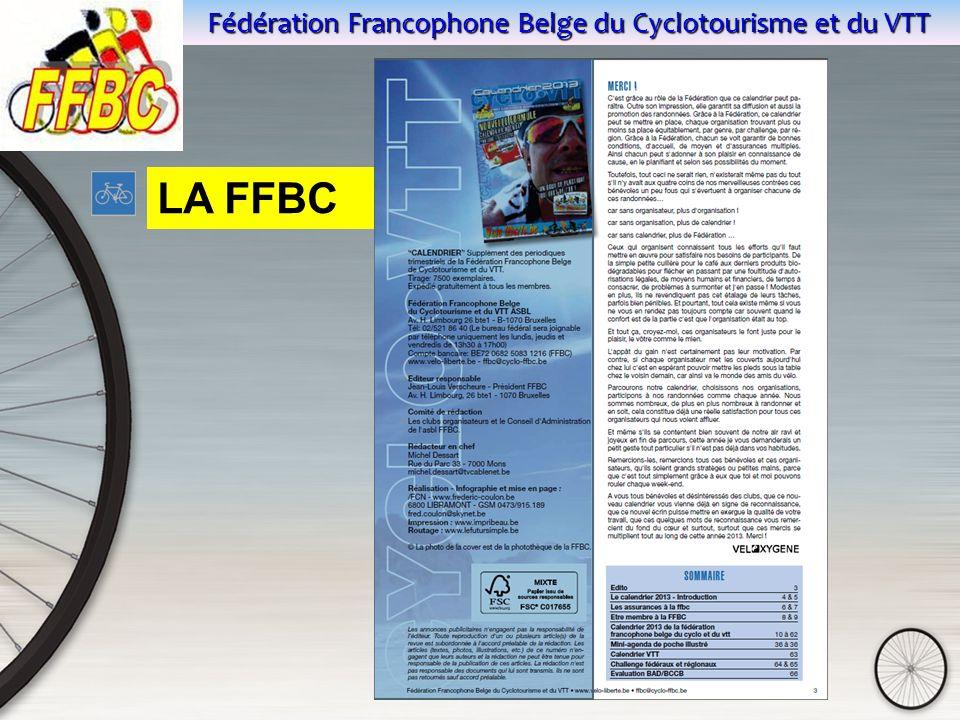 Fédération Francophone Belge du Cyclotourisme et du VTT LA FFBC
