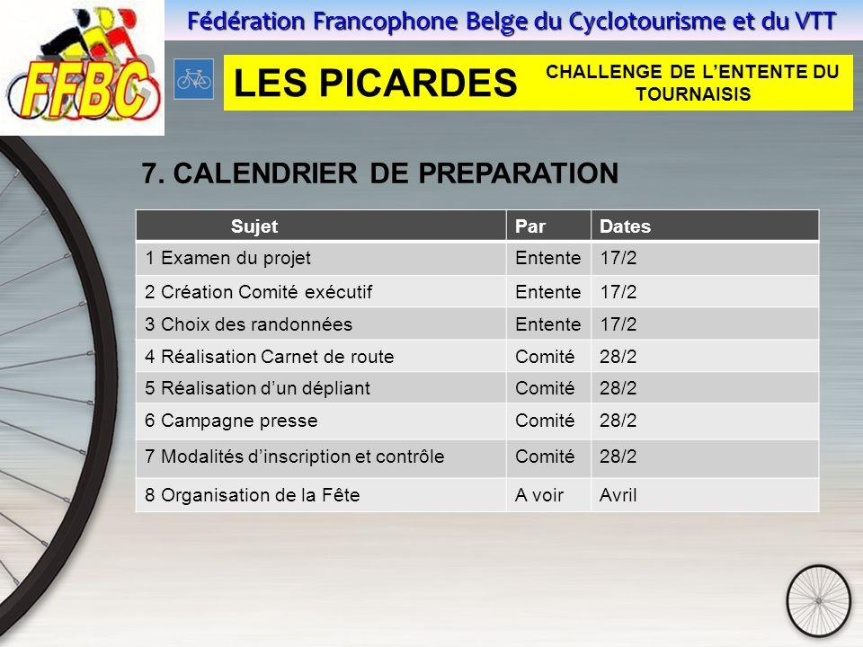 Fédération Francophone Belge du Cyclotourisme et du VTT 7.