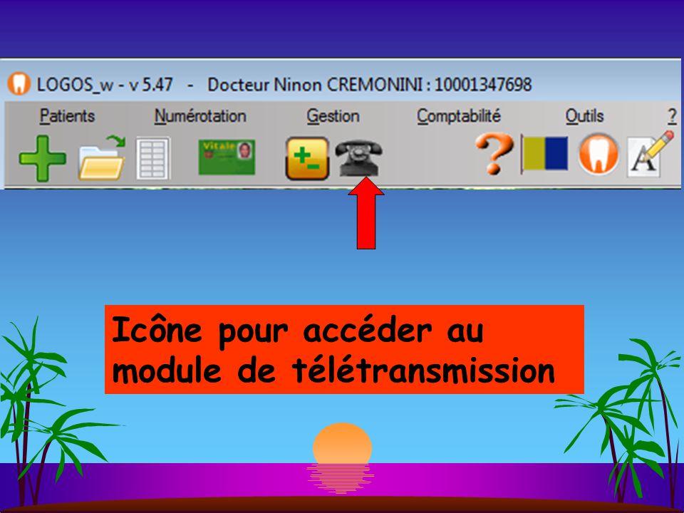 Icône pour accéder au module de télétransmission