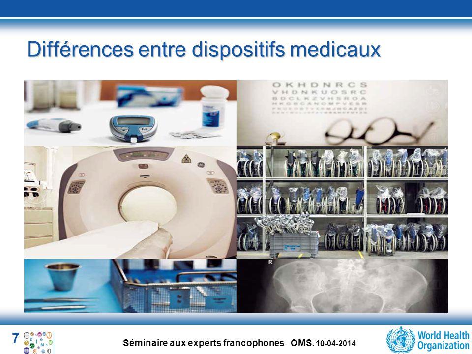 18 Séminaire aux experts francophones OMS. 10-04-2014