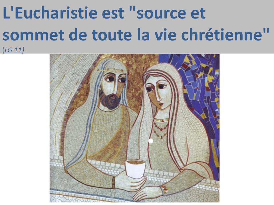 L Eucharistie est source et sommet de toute la vie chrétienne (LG 11).