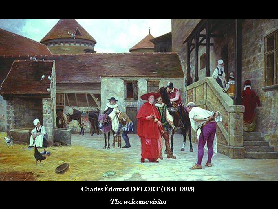 Charles Édouard DELORT (1841-1895) The welcome visitor