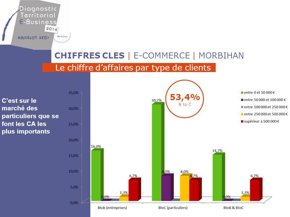 CHIFFRES CLES | E-COMMERCE | MORBIHAN Le chiffre d'affaires par zones de chalandise 46% CA national 30% CA UE