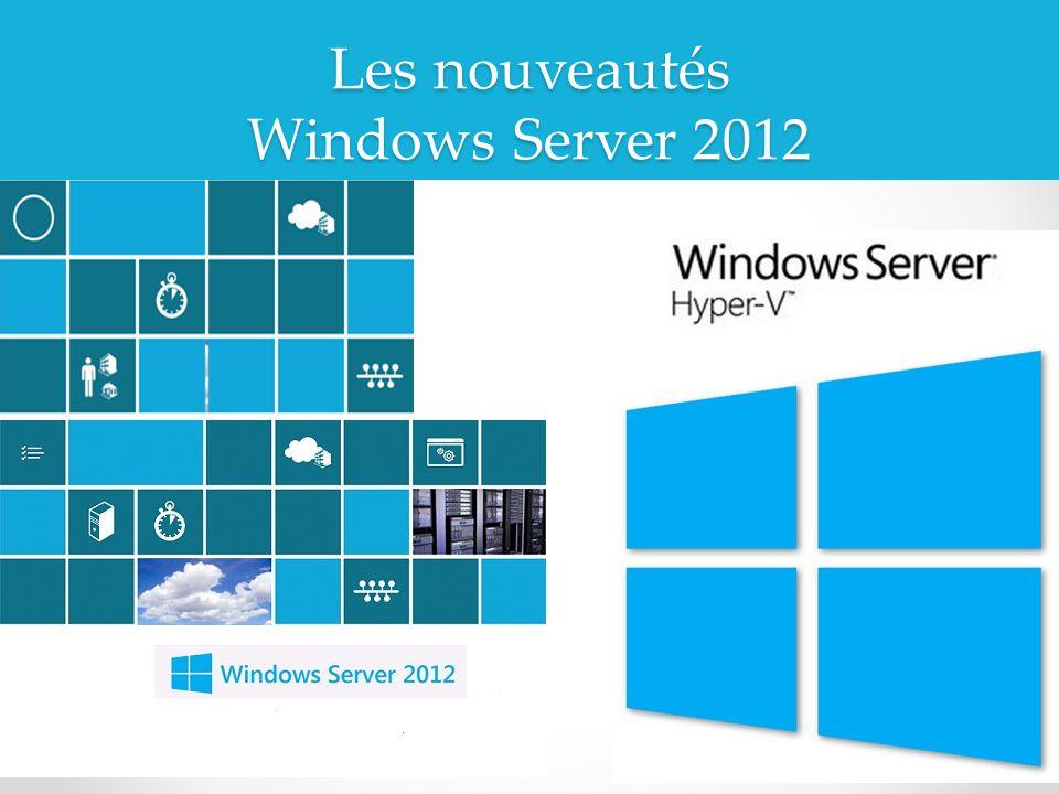 Les nouveautés Windows Server 2012