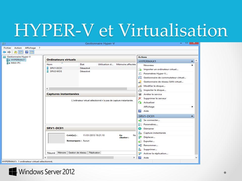La troisième version d'Hyper-V qu'embarque Windows Server 2012 fait sauter plusieurs limitations de l'édition précédente de l'OS.