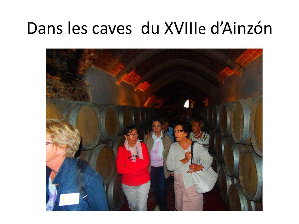 Dans les caves du XVIII e d'Ainzón