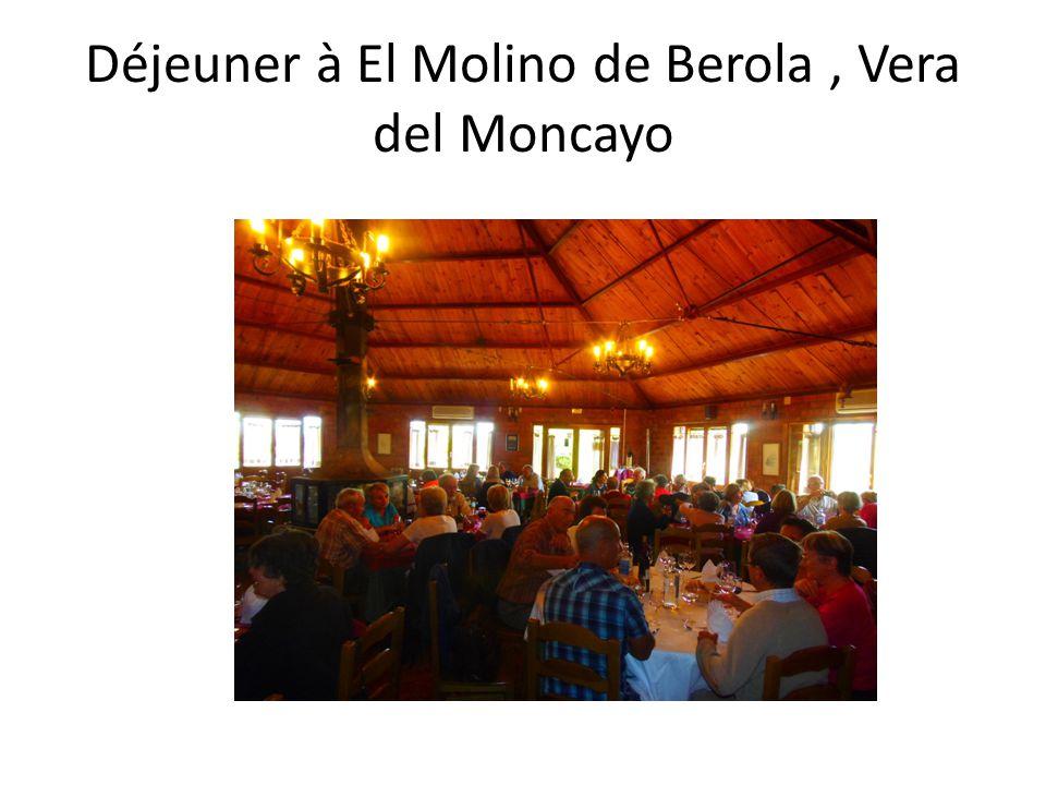 Déjeuner à El Molino de Berola, Vera del Moncayo
