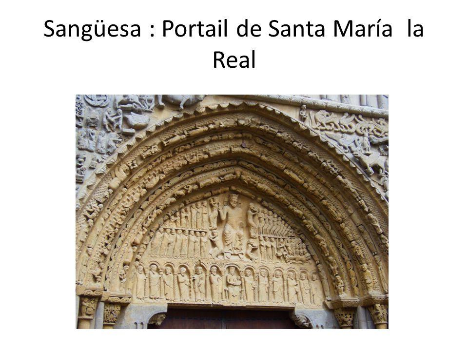 Sangüesa : Portail de Santa María la Real