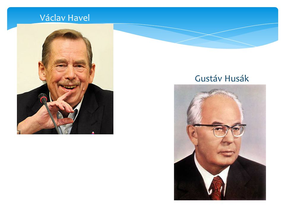 Gustáv Husák Václav Havel