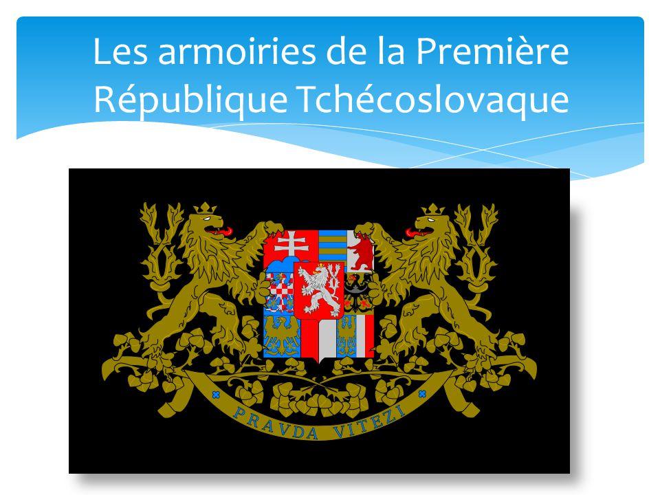 Les armoiries de la Première République Tchécoslovaque
