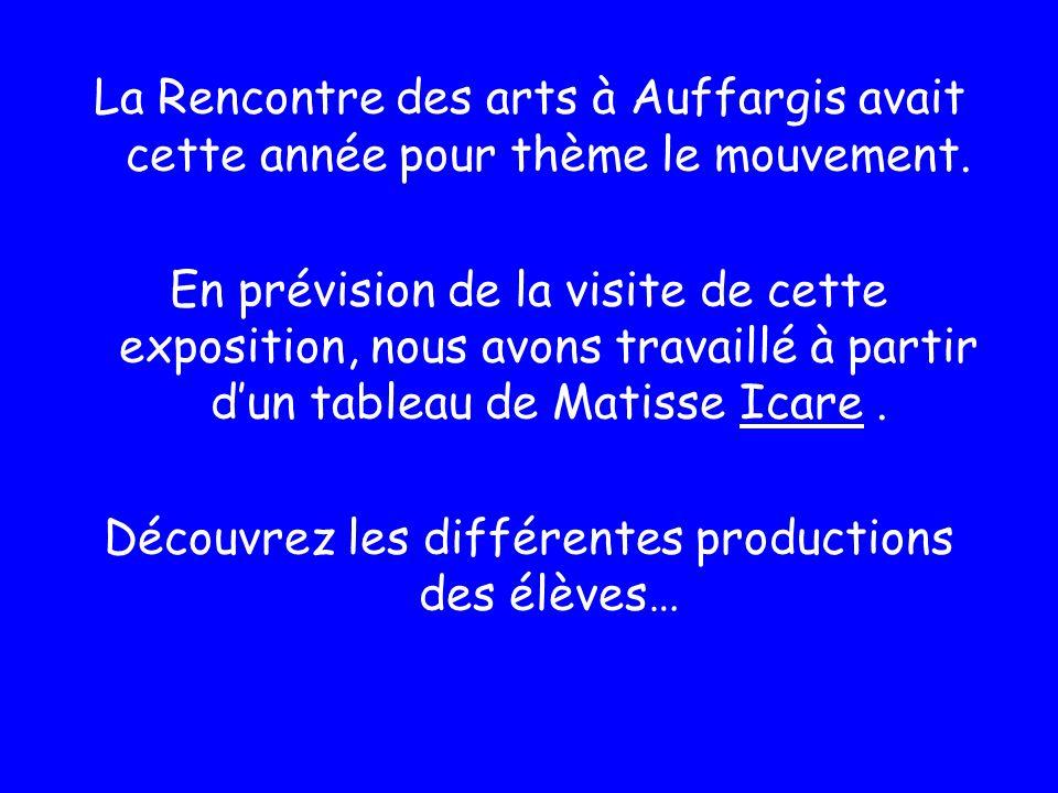 La Rencontre des arts à Auffargis avait cette année pour thème le mouvement. En prévision de la visite de cette exposition, nous avons travaillé à par