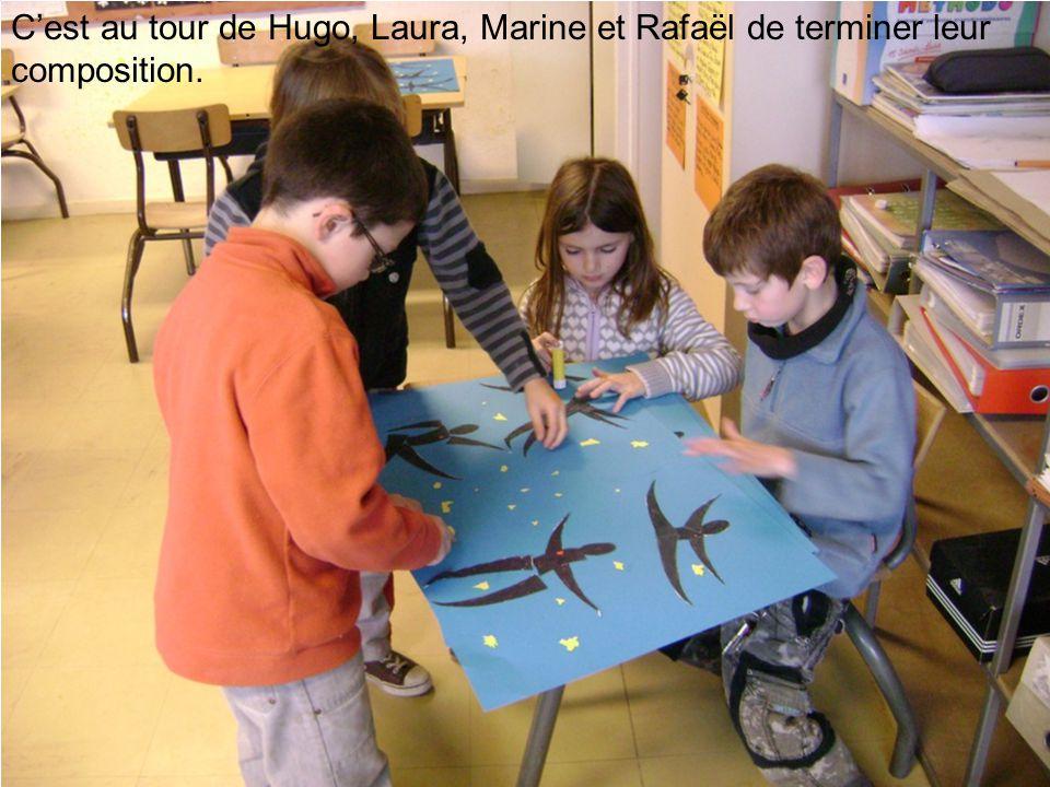 C'est au tour de Hugo, Laura, Marine et Rafaël de terminer leur composition.