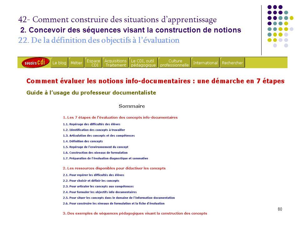 © P. Duplessis, A. Serres, 200880 42- Comment construire des situations d'apprentissage 2. Concevoir des séquences visant la construction de notions 2