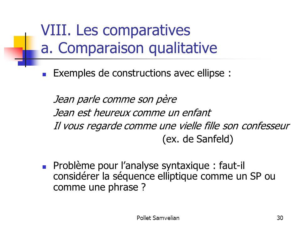 Pollet Samvelian30 VIII.Les comparatives a.