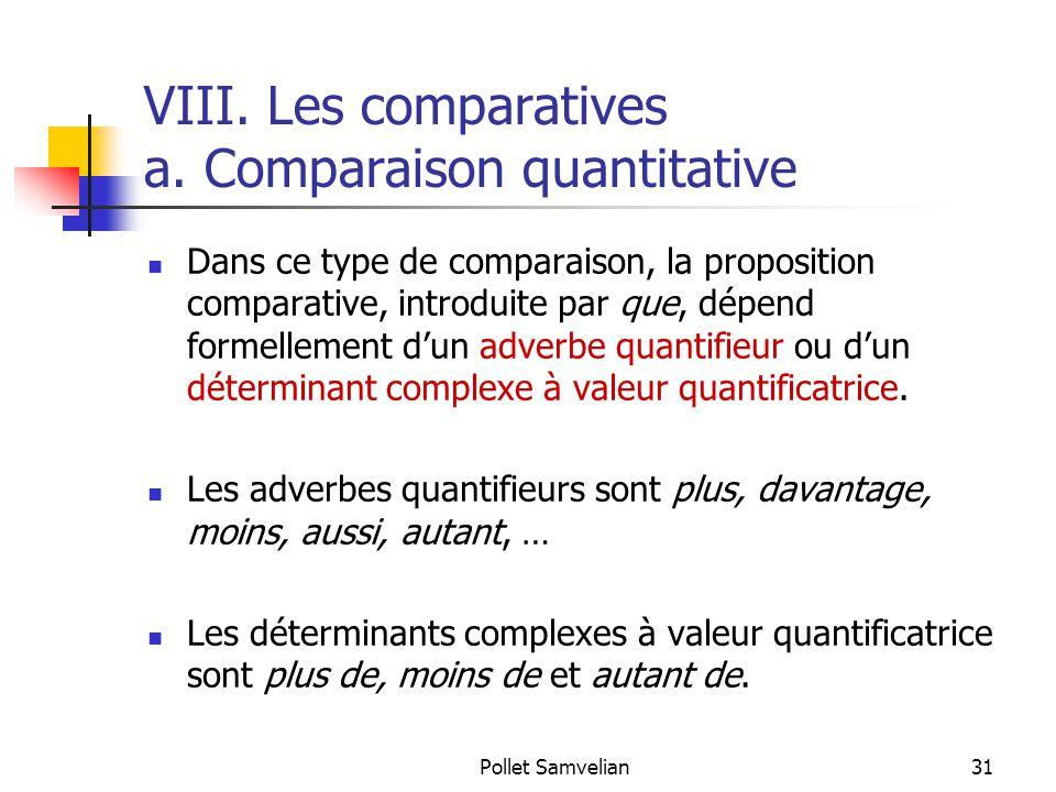 Pollet Samvelian31 VIII.Les comparatives a.