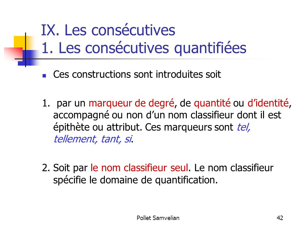 Pollet Samvelian42 IX.Les consécutives 1.