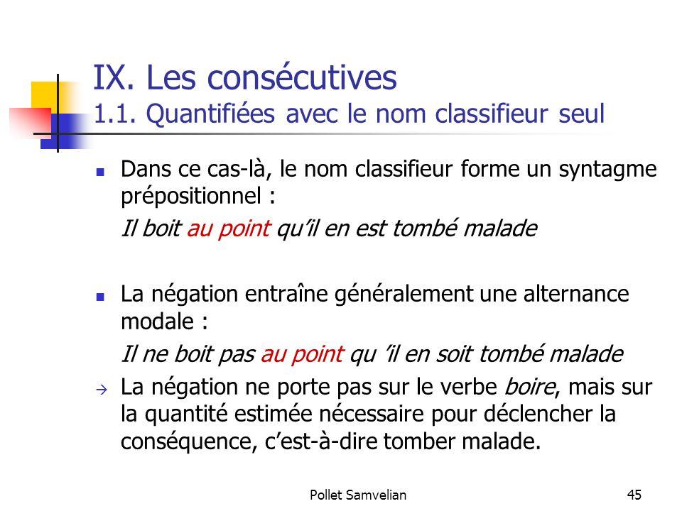 Pollet Samvelian45 IX.Les consécutives 1.1.