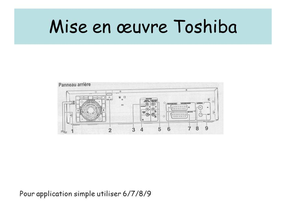 Mise en œuvre Toshiba Pour application simple utiliser 6/7/8/9