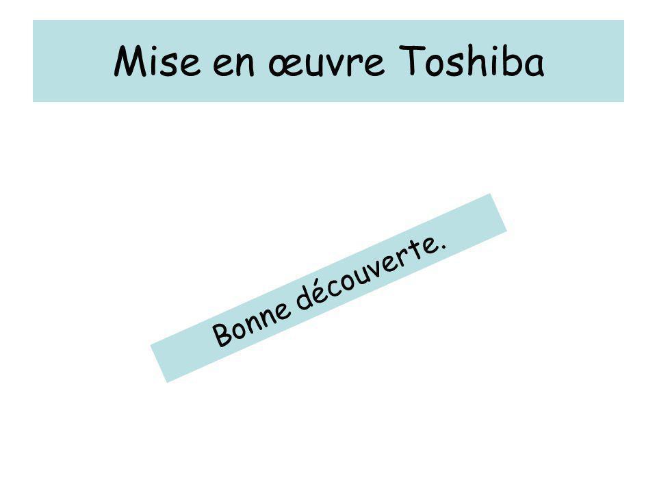 Mise en œuvre Toshiba Bonne découverte.