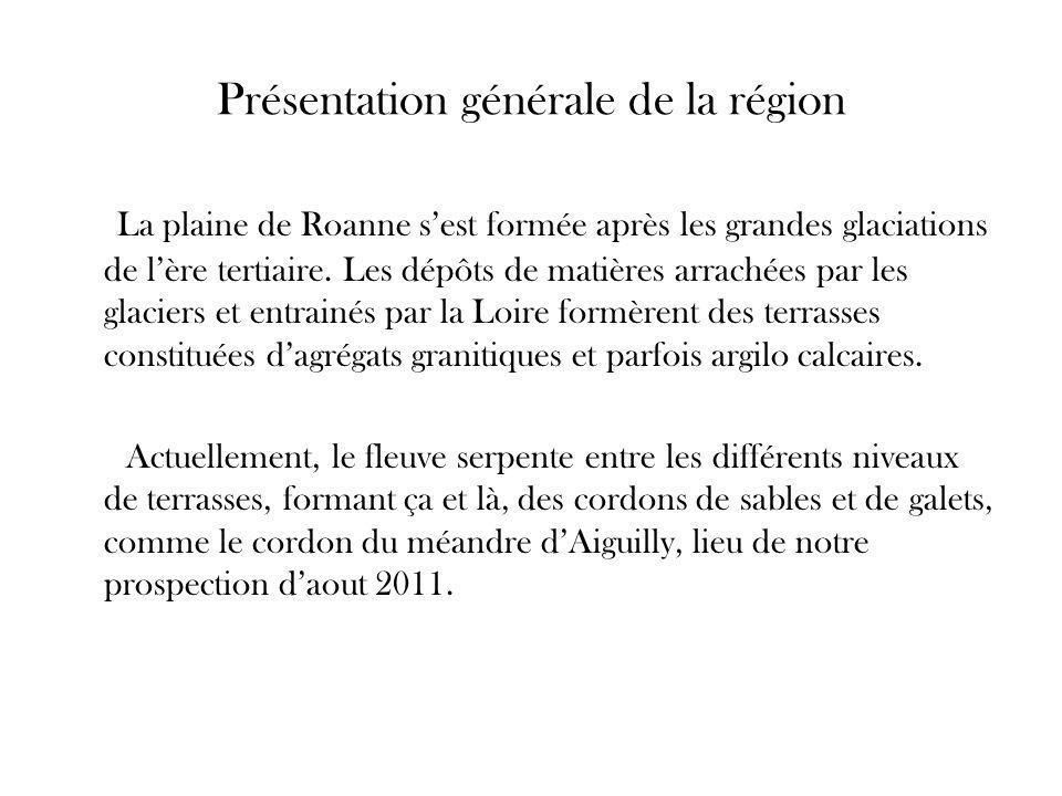 Présentation générale de la région La plaine de Roanne s'est formée après les grandes glaciations de l'ère tertiaire.