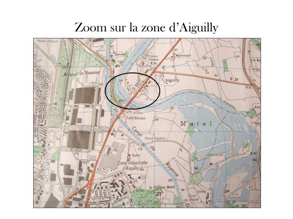 Zoom sur la zone d'Aiguilly