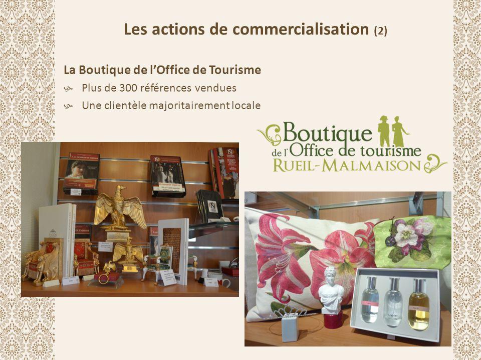 Les actions de commercialisation (2) La Boutique de l'Office de Tourisme  Plus de 300 références vendues  Une clientèle majoritairement locale