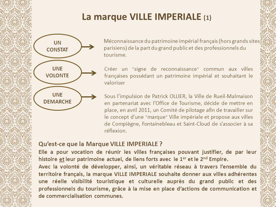 La marque VILLE IMPERIALE (1) UN CONSTAT Méconnaissance du patrimoine impérial français (hors grands sites parisiens) de la part du grand public et de
