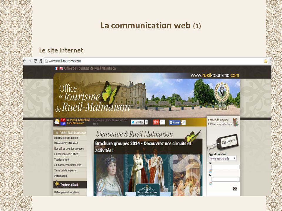 La communication web (2) La page Facebook